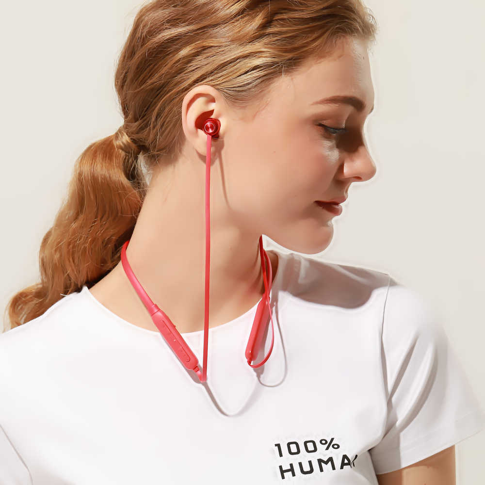 IPUDIS Bluetooth наушники с шейным ремешком 130 мАч магнитные беспроводные наушники Спортивная гарнитура с микрофоном
