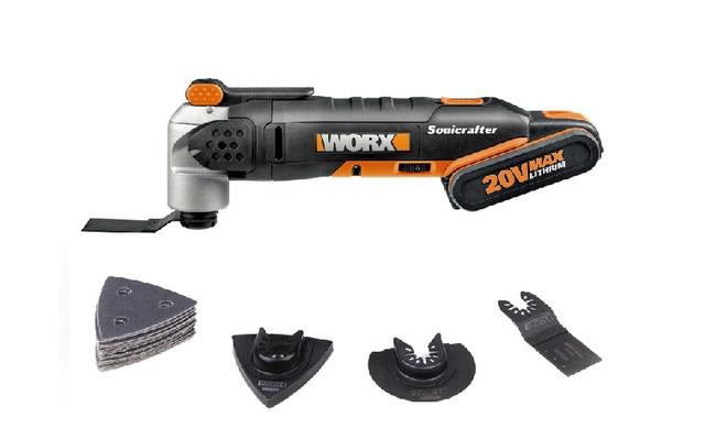 Worx WX678 Новый Фейн MultiMaster или sonicraft с 20 В батареи для дерева/резки металла, пилить, очищая, шлифования, лезвие пилы