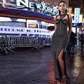 2017 Novas Mulheres Vestido de Inverno Vestido Maxi Black White Diamonds Frisada escavar Divisão Sem Mangas Runway Celebridade Vestido de Festa