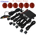 1Set Car LED Display Parking Sensor Kit  6 Sensors for all cars Reverse Assistance Backup Radar Monitor System 44 colors