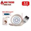 Новейшие Vagtacho Версия USB V 5.0 VAG TACHO NEC MCU 24C32/24C64 VAG TACHO USB V5.0 Профессиональный Чип ECU Инструмент настройки