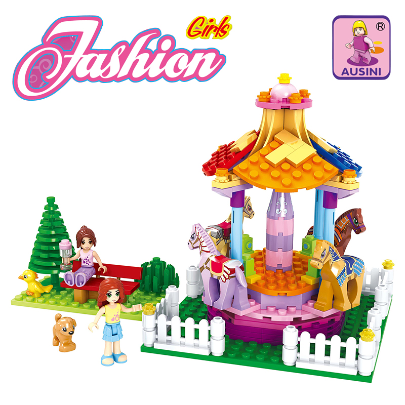 Model building kits compatible with lego city girl friends 323 3D blocks Educational model building toys hobbies for children