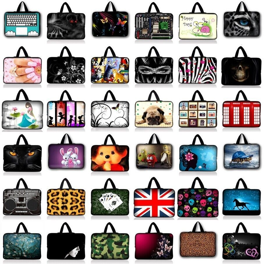Soft Neoprene Notebook Bag Smart Cover Tablet Bag Sleeve Carry Case Pouch Handbag For 7