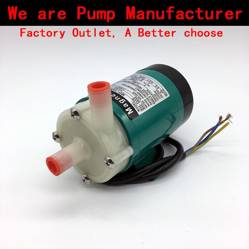 Pompa dell'acqua 220 V MP-10RN 5 ~ 11L/min (60 HZ: 8 ~ 12L/min) Azionamento magnetico Pompa di Circolazione Acidi ed alcali corrosione