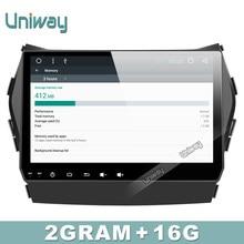 Uniway 2G + 16G android 6.0 dvd del coche para Hyundai IX45 Santa fe 2013 2014 215 2016 coche radio stereo headunit