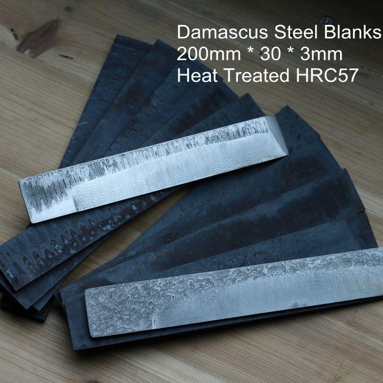 High Carbon Damascus billet Damascus steel blanks HRC57 Knife DIY blade blanks