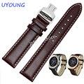 22mm pulseira de couro genuíno butterfly fivela para lg g watch w100 w110 urbane w150 banda strap pulseira pulseira pulseira
