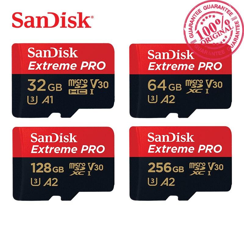 SanDisk Extreme Pro & Ultra Micro SD Speicher Karte SDHC/SDXC UHS-I C10 U3 V30 A2 16 gb 32 gb 64 gb 128 gb 256 gb 170 mb/s TF Karte 4 karat HD