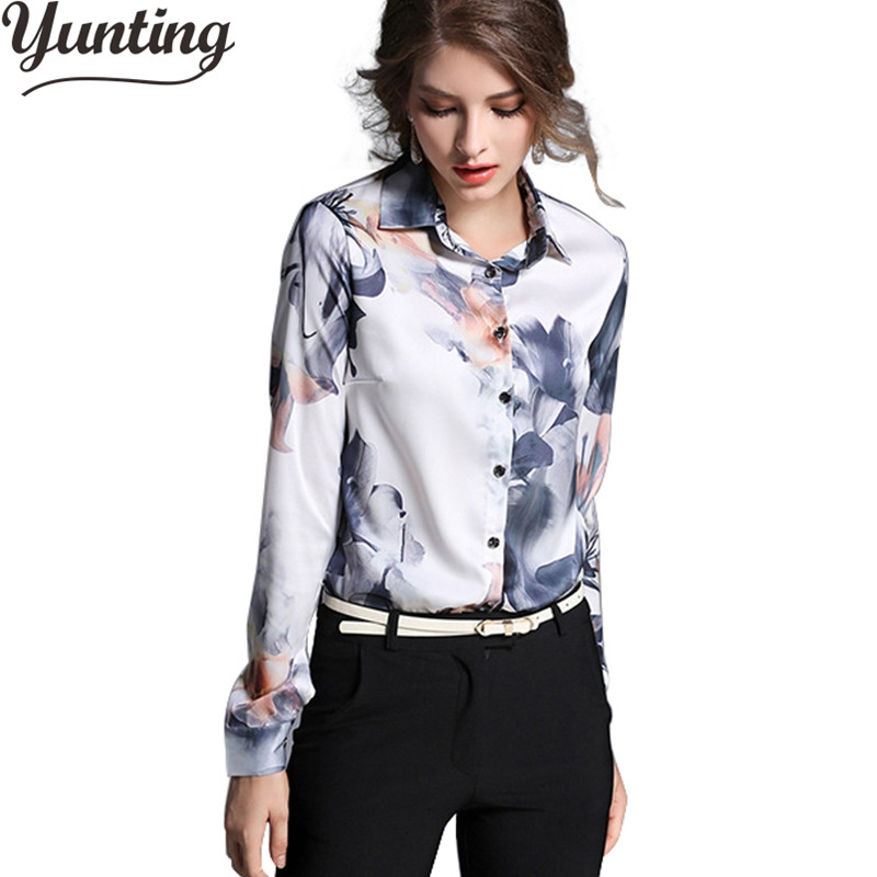 Back To Search Resultswomen's Clothing Mumuzi Flower Print Shirt 2019 Spring New Slim Chiffon Blouse Womens Fake Silk Shirt Satin Bow Bandage Long-sleeved Shirts Tops