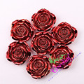 Frete Grátis (F30) 50 Pçs/lote 42 MM UV Red Cor Chunky Resina Rosa Flor Beads For Kids Meninas Bubblegum Jóias DIY CDBD-601258