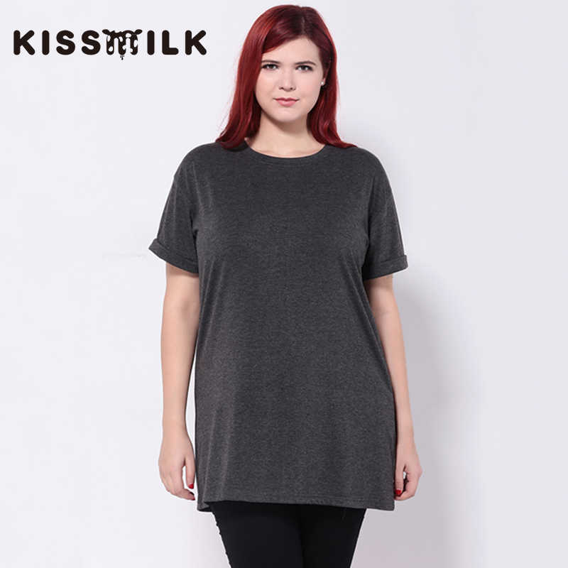 kiss milk summer plus size western style fashion loose solid color short  sleeve 3XL-6XL b446aa762e27