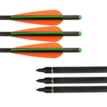 Free shipping ELONG quality 12 pcs/lot carbon fiber crossbow bolt 20 completed moon nock insert tip vanes hunting archery bow ботинки elong elong el025awgka90