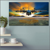 Large Size Printing Oil Painting Fighter C 130 Hercules Wall Art Canvas Print Pictures For Living