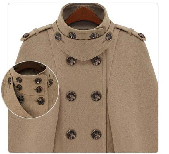 Genuo, плащ с пряжкой, пончо, Женское пальто, новая мода, Европейское шерстяное пальто, женское осеннее Свободное пальто, женская теплая верхняя одежда