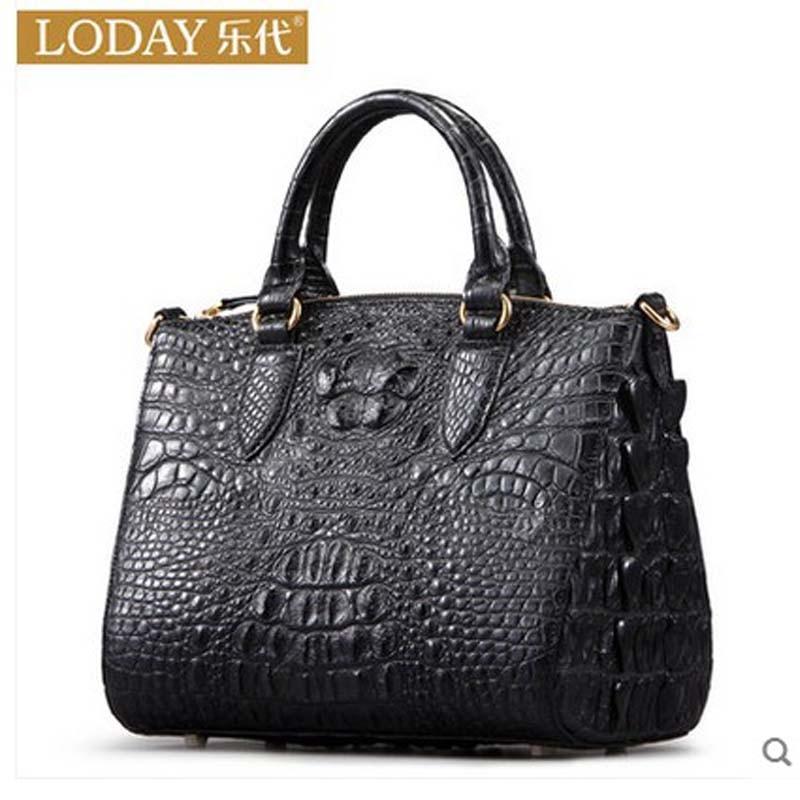 heimanba European and American fashion 2017 new single shoulder bag luxury alligator skin croc handbag european and american 2017 new lychee grain 100