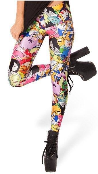 Monkey King 2014 new women's Adventure Time Bro Ball Leggings fashion Digital print Galaxy Pants Free shipping