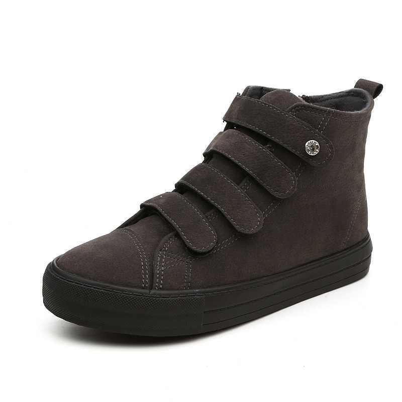Marka Kadın Ayakkabı kadın Kış Ayakkabı Artı Büyük Boy Kadın Kış Botları Peluş Sıcak Yüksek Kalite Bling Orta Çizme