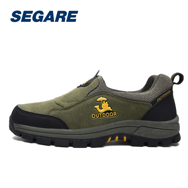 ФОТО Big Size Hiking Shoes Men Breathable Waterproof Climbing Boots Climbing Trekking Sneakers Shoes SE091202