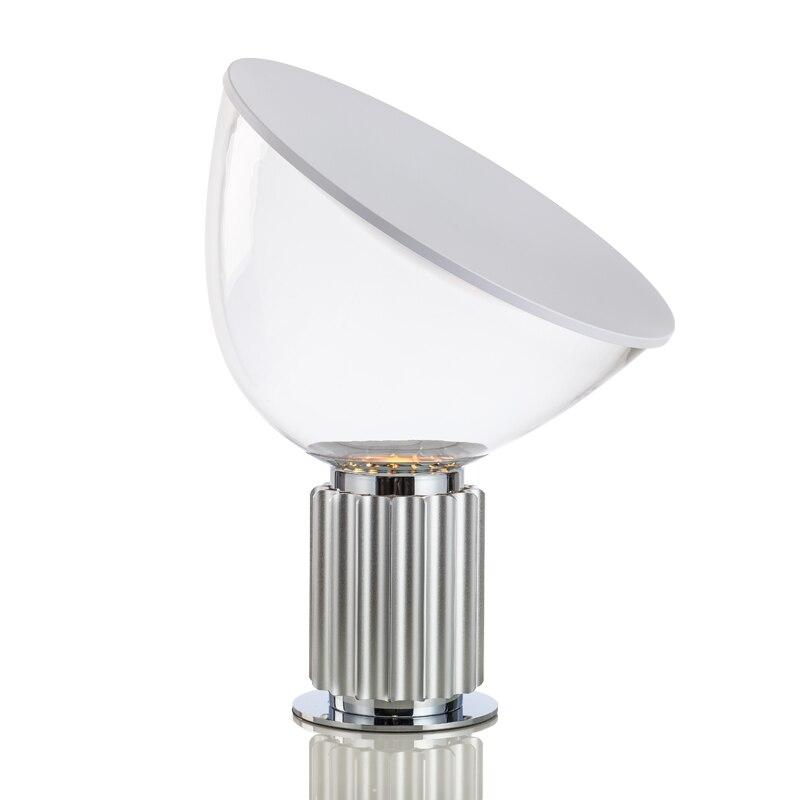 Nordic postmodern radar black white Aluminum table lamp creative simple fashion living room study bedroom reading lamp E27 bulb