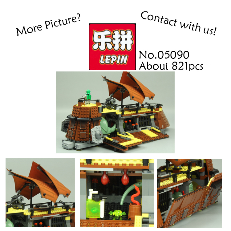 Lepin 05090 821Pcs Genuine Star War Series The Jabba`s Sail Barge Set Children Educational Building Blocks Bricks Toy Model 6210 rollercoasters the war of the worlds