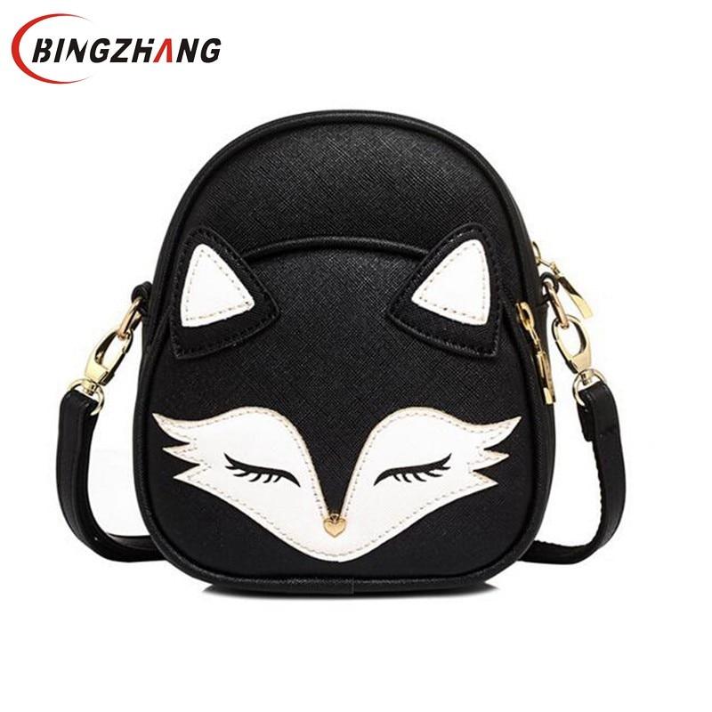 Hot New 2017 Cute Cat Shoulder Bags Fox Face Women Baby Girl Mini Bags For Women Cross Body lolita bag high quality L4-2950 юбка arrow dan mini lolita