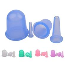4PCS/Sets Silicone jars Massage Vacuum Cup Face Massager Cupping Set Neck Face Back Fatigue Relief Chinese Tool L4