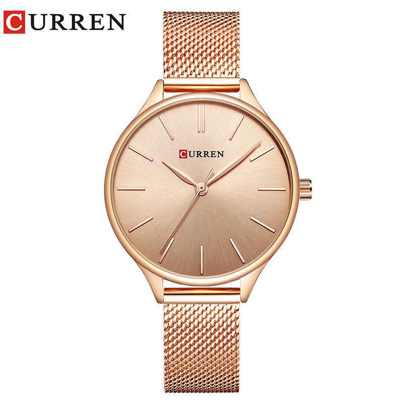 78b80a1ec60 CURREN 9024 Watch Women Casual Fashion Quartz Wristwatches Creative Design  Ladies Gift relogio feminino