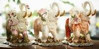 Цветы керамический слон home decor ремесел украшения комнаты керамические каваи орнамент фарфор сад фигурки животных украшения