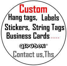 2019 personalizado com o próprio logotipo/acessórios de costura/hangtag/etiquetas/etiqueta/embalagem/etiquetas da jóia/cartões de visita/etiquetas de papel/etiquetas