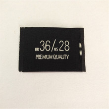 Customized Garment Woven Label For Clothing Size label