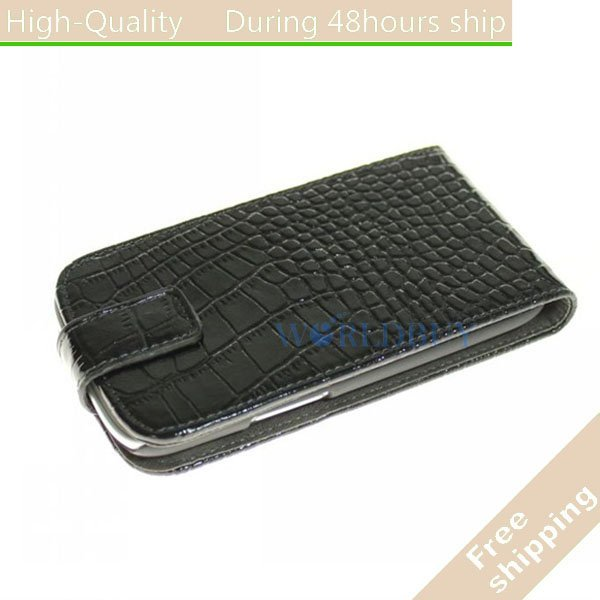 New Crocodile Leather Flip Case Stand Cover For Samsung Galaxy S3 III i9300 Free Shipping UPS DHL EMS CPAM HKPAM
