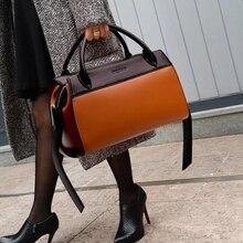 Brand Leather Bag Women Messenger Crossbody Trapeze
