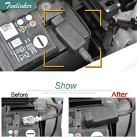 1 Pcs DIY Plastic Car Styling Battery Negative Waterproof Cover Case Stickers For Volkswagen POLO Jetta