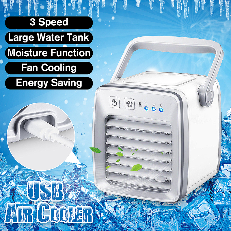 Portable Air Conditioner Device Cooling Mini Cooler Fan Personal Space USB 3 Speeds Refrigeration Humidification Purification 738w cooling capacity refrigeration compressor r134a suitable for bottle cooler and beverage chiller