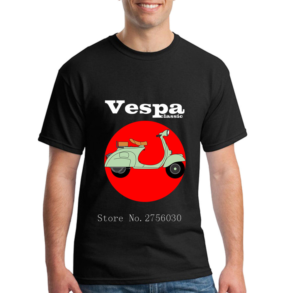 Cool Guys Custom T-Shirt Men Vespa t shirts Classic Scooter motorcycle Mens t shirts twin peaks 100% Cotton T Shirts 2XL Size