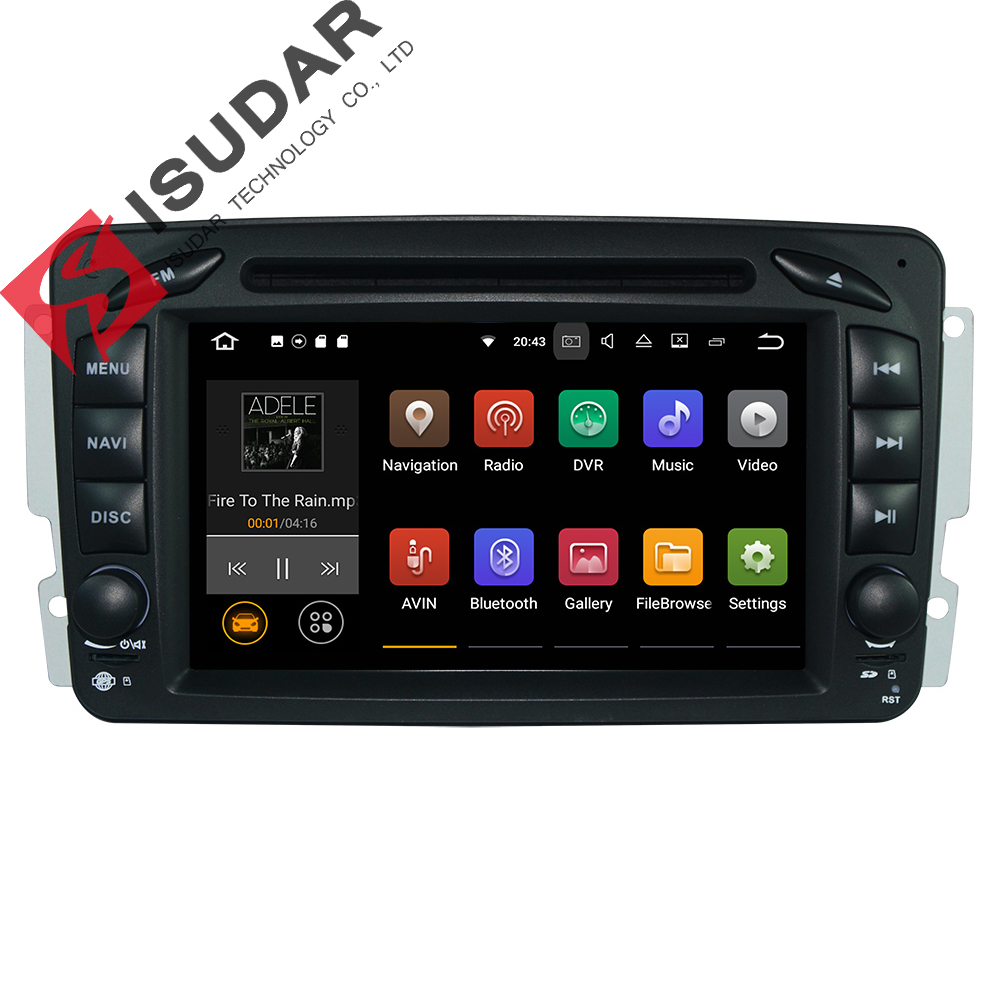 Two Din Android 7.1.1! 7 Inch Car DVD Player For Mercedes/Benz/W209/W203/W168/M/ML/W163/Viano/W639/Vito/Vaneo Wifi GPS FM Radio автомобильный dvd плеер dk 2 din mercedes benz smart fortwo 7 ddr3 8g gps navi wifi usb