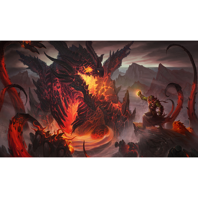 Best Quality Mm Thick Table Pad Game WOW Deathwing Dragon Playmat - Thick table pad