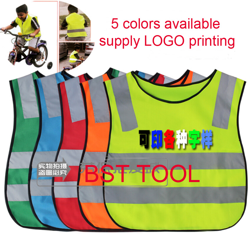 cd9df6f321c0 Free Shipping high visibility student kid reflective vest safety ...