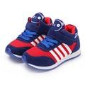 Nuevo 2017 primavera lona niños shoes niños zapatillas de deporte de marca niños shoes for girls jeans denim plana bebé toddler casual shoes 21-37