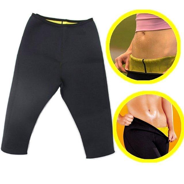 Las mujeres de talladora del cuerpo de adelgazamiento pantalones muslos gordo calorías quemador de entrenamiento Sauna gimnasio Fitness cintura alta Control de abdomen