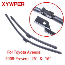 XYWPER Wiper Blades for Toyota Avensis 2008 2009 2010 2011-2016 26″&16″ Car Accessories Soft Rubber Car Windshield Wiper Blades