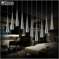 DIY LED Pendant Light Fitting Modern LED Pendant Lustre Silver Suspension Light Stair Lamp Dining Lamp