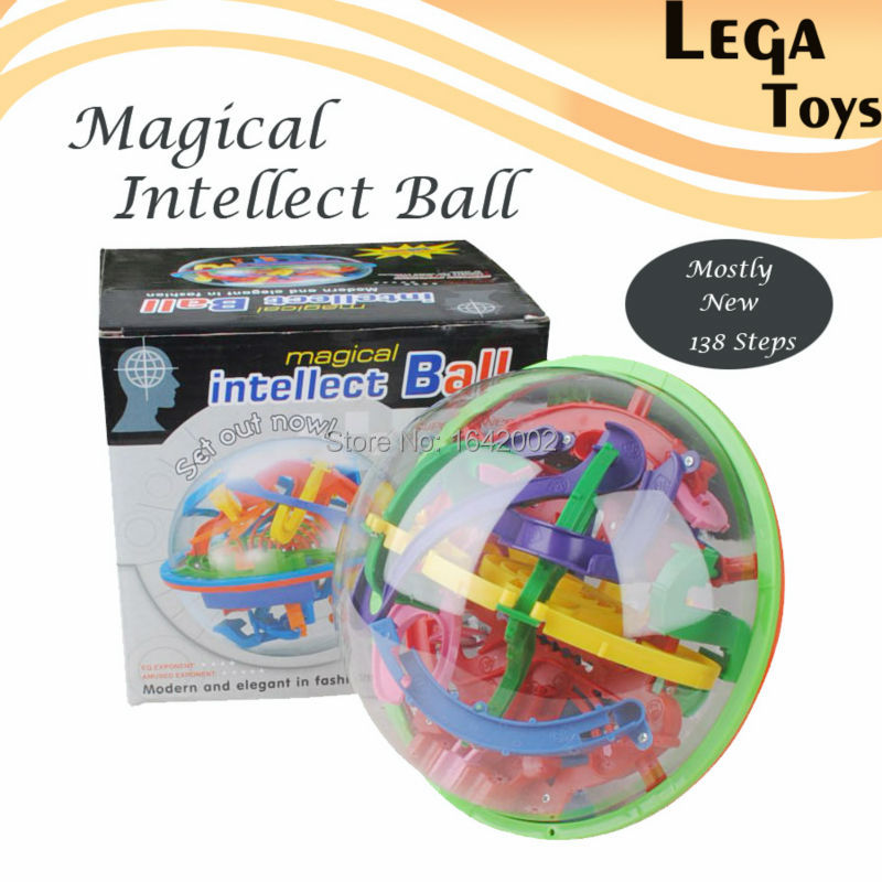 Punctual 3d Magic Intellect Ball Balance Maze Game Puzzle Kids Toy Gift Complete In Specifications Model Building