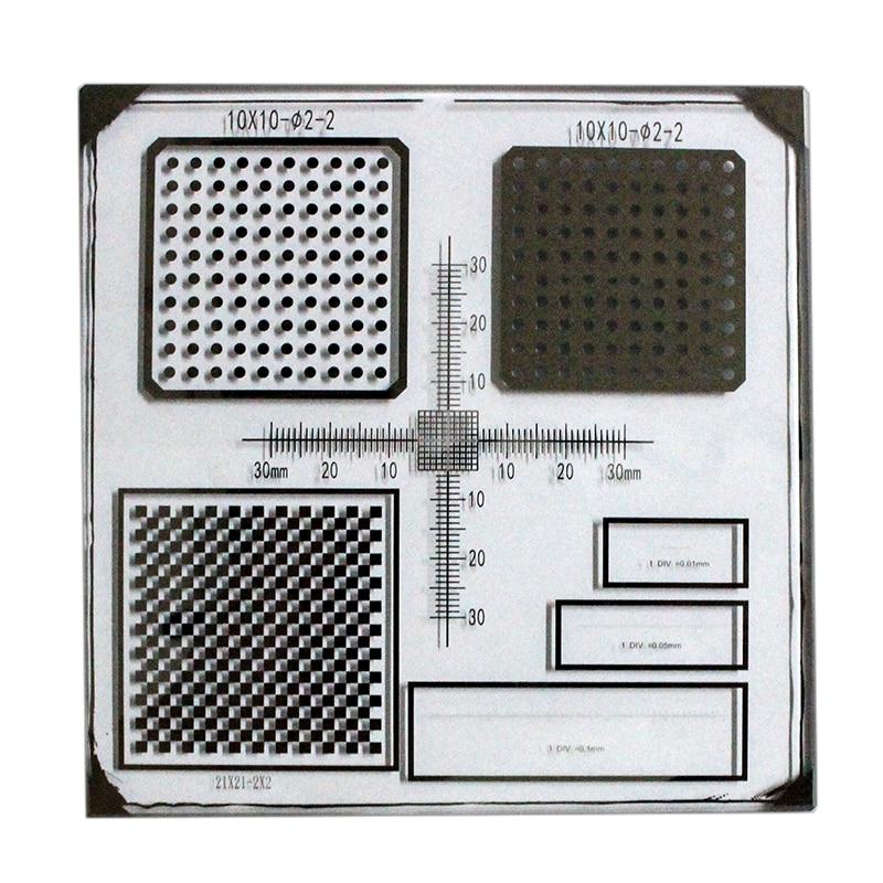 Machine Vision Calibration Target Chessboard Target Grid Calibration Target Dot Calibration Target 0.01mm Micrometer