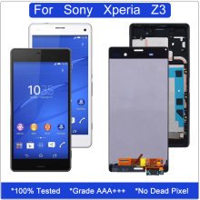 Original LCD for Sony Xperia Z3 Touch Screen Digitizer Assembly Dual Display D6603 D6633 D6653 With Frame