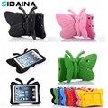 SIBAINA EVA Противоударный Case для iPad Mini 1 2 3 Мультфильм 3D бабочка Настольная Подставка Cover Case для iPad Mini 123 Дети Сейф Случаях