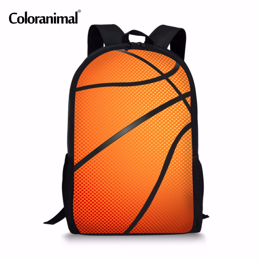 Coloranimal Chiladren Kids Casual School Backpack Teenager Girls Boys Daily Mochilas Bookbags 3D Basketballs Soccerly Print Bags