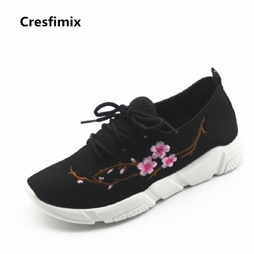 Cresfimix women cool and comfortable breathable shoes lady cute floral printed shoes zapatillas de mujer lady casual shoes cresfimix zapatos women cute flat shoes lady spring and summer pu leather flats female casual soft comfortable slip on shoes