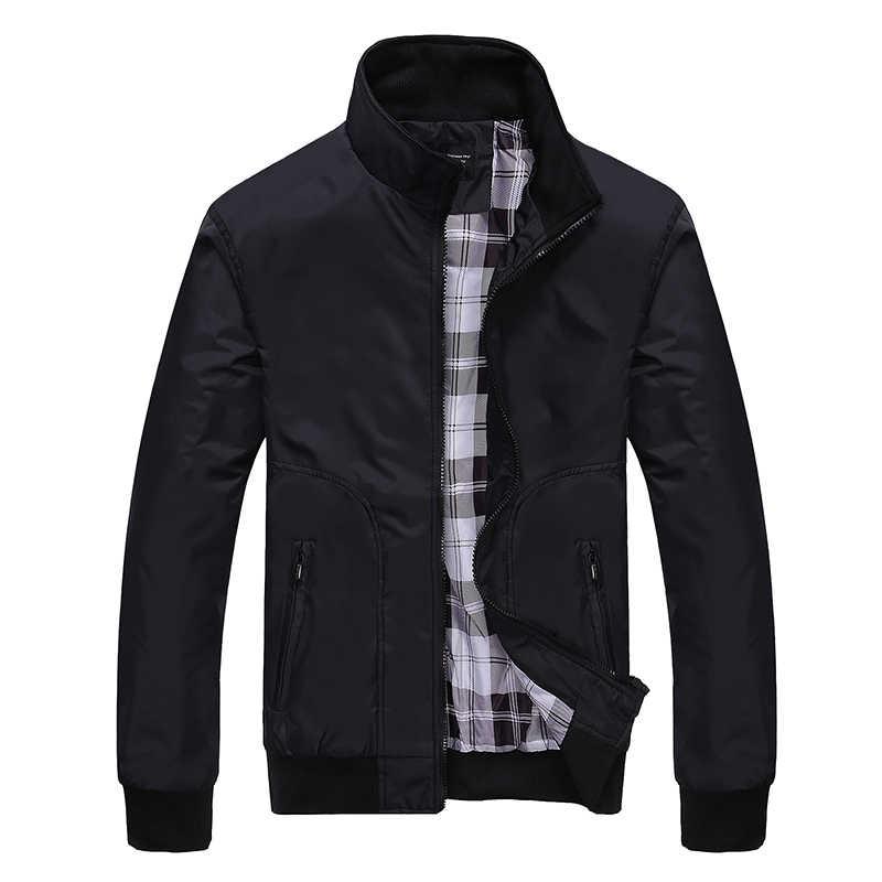 Varsanol весенние куртки мужские 2019 куртка-бомбер мужские s повседневная куртка мужские пальто бренд мужские костюмы Turn-Down Воротник с карманом