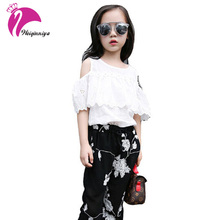 2017 New Fashion Spring Children Girl Print Clothing Sets Baby Girl Clothes kids T-shirt +Shorts 2pcs Suit High Quaity